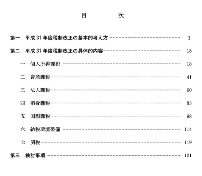 与党税制改正大綱2019